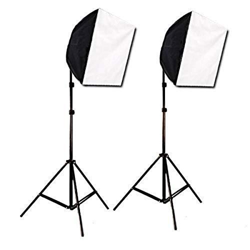 CowboyStudio Photography Photo Studio Video Quick Softbox Lighting Light Kit, 600 Watt Output