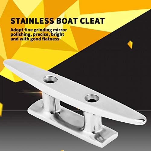 BOTEGRA Abrazadera de Cuerda, Base Abierta Férula de Amarre Marina Pulido de Espejo Pulido sin perforación para Kayak para yate Marino