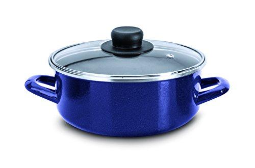 Ekco 87531 Cacerola con Tapa, color Azul, 24 cm