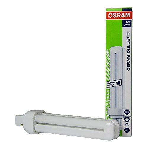 10er Osram Kompakt Leuchtstofflamae DULUX D 26W/840 G24D3 2PIN - EEK: A Hellweiß