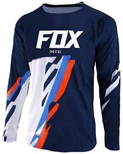 Maillot de MTB Men's Fox MTB Motocross Off-Road Jersey Downhill T Shirt...