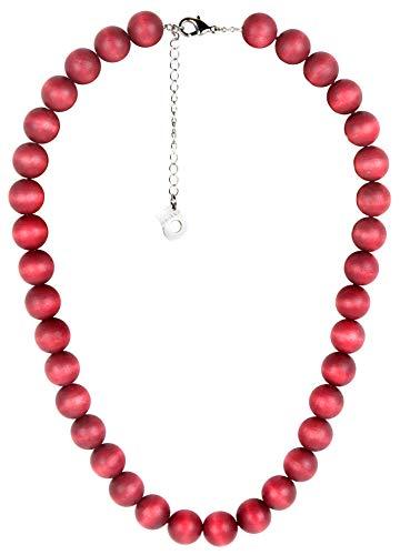aarikka AITO Halskette aus Holzperlen, 54 cm lang, rot / johannesbeer