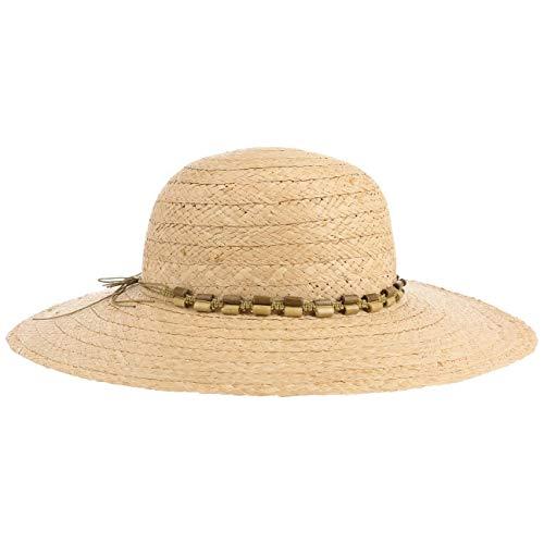 Lipodo Maypearl Raffiastroh Schlapphut Damen | Strohhut in Einheitsgröße (55-57 cm) | Hut aus 100% Stroh | Sonnenhut Kordelband Natur One Size