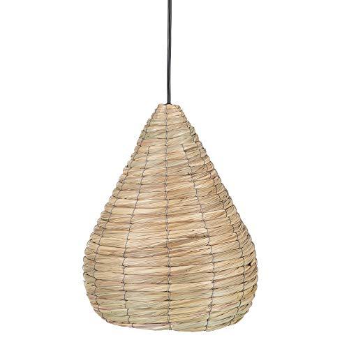 Lámpara de techo colgante exótica de fibra natural beige,
