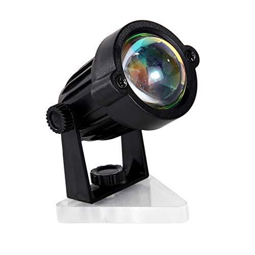 LOVIVER Lámpara de Puesta de Sol Led luz lámpara de proyección de Suelo Moderno Fondo decoración de Pared Regalo - Style 2