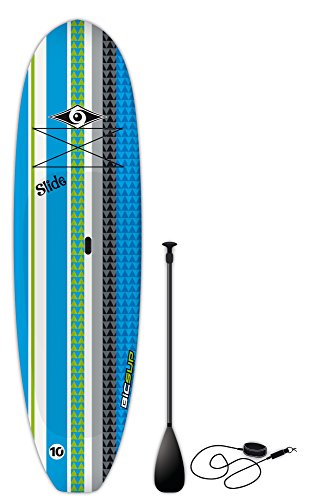 BIC Sport Slide SUP Stand Up Paddleboard Package, Blue, 10'6' x 33' x 205 L