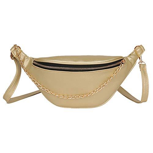 PCBDFQ damestas dames riemtassen lederen tassen heuptas ketting messenger borst crossbody borstzak design
