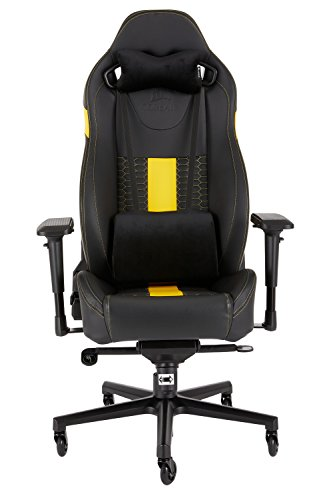 CORSAIR CF-9010010 WW T2 ROAD WARRIOR Gaming Chair Comfort Design, Black/Yellow