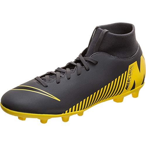 Nike Herren Superfly 6 Club MG Fußballschuhe, Grau (Dark Grey/Black-Opti Yellow 070), 43 1/3 EU