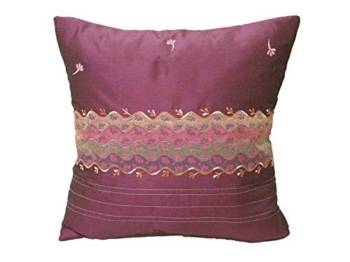0 www.working-house.com (Textil / Cojines) FUNDA DE COJIN CAMA SOFA CUADRADA GRANDE VIOLETA
