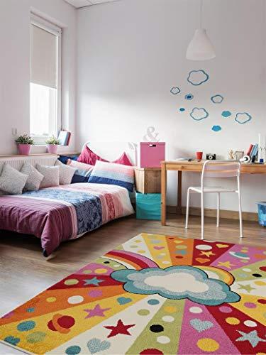 benuta Kinderteppich Noa Universe Multicolor 120x170 cm | Teppich für Spiel- und Kinderzimmer