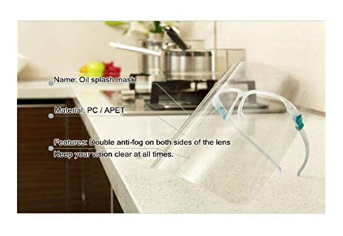 Dxgvdgdfgd Visières Cuisine Anti-Oil Splash Clear Shield Protector Cuisine Gadget Outil, Mesdames Facial de Protection Transparent (Transparent), 2PCS ( Size : 6PCS )