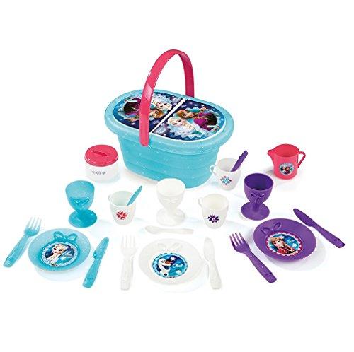 Smoby Toys- 310556- die Eiskönigin, Picknickkorb, Essecke mit Korb, + 21Zubehör