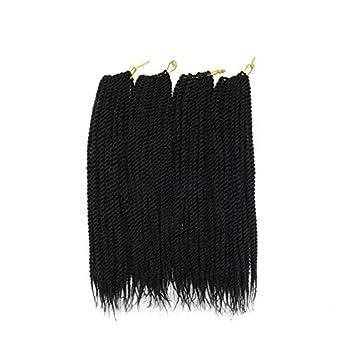 Leyoo 12  Senegalese Twist Crochet Braid  120 Roots/Box  Thin Crochet Braiding Hair Extension For Kids  1B