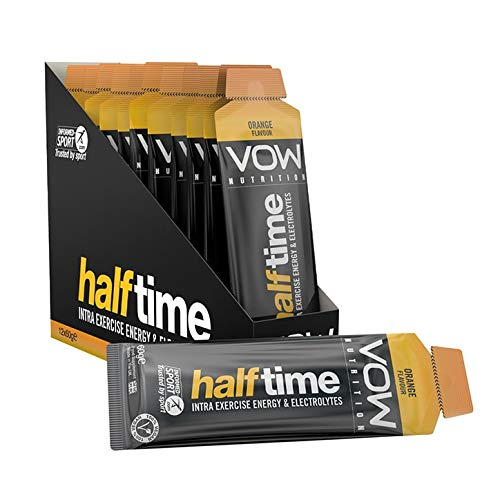 VOW Half Time Energy Gel, Electrolytes, 22g Carbohydrates, Informed Sports Approved, Endurance, Cycling, Running, Team Sports