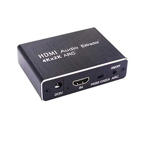 SOUTHSKY Convertidor HDMI a HDMI Adaptador de Extractor de Audio ARC,3.5mm Enchufe de Audífonos,SPDIF(Toslink,Óptica),Coaxial