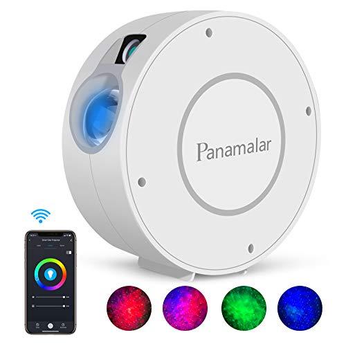 Panamalar Smart Sternenhimmel Projektor, WLAN LED Projektor Galaxy Sternenlicht Kinder Nachtlicht mit Timer/Sprachsteuerung von Alexa & Google, Sternenhimmel LED Lampe für Party Kinder Geschenk