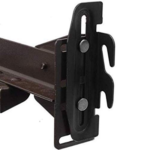 "Conversion Bracket Adapter Plate Kit Bed Frame to Headboard or Footboard Attachment #35 Down Hook Plates - Pack of 4 | Up to 2"" Height Adjustment 