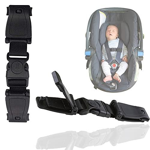 mohito 2PCS Niños Seguridad Clip de Hebilla Hebilla de Seguridad Para Niños Cinturón De Seguridad Para Sujetar Niño Evite que los Niños se Caigan del Cinturón de Seguridad Negro