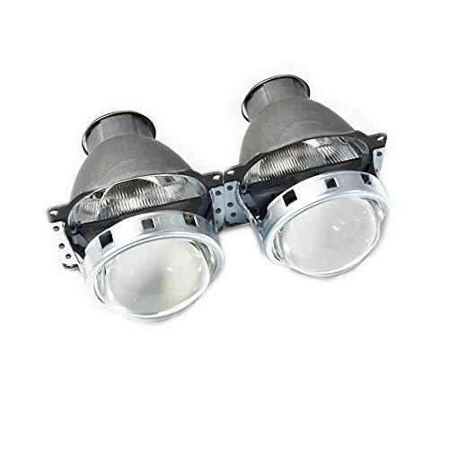 Angel Eyes Auto Scheinwerfer 3.0-Zoll H7Q5 Bixenon HID-Projektor-Objektiv Metallhalter Fit for H7 Xenon-Birnen HID Xenon-Kit Scheinwerfer Auto Freies Verschiffen (Color : Two pieces)