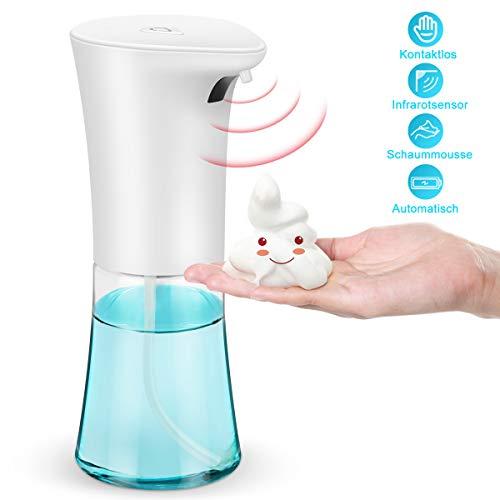 Alltripal Seifenspender Automatisch mit Sensor Infrarot 300ml Berührungsloser Elektrischer Desinfektionsspender Sprühspender Schäumende Schaumseifenspender für Küchen Badezimmer Hotel Waschraum