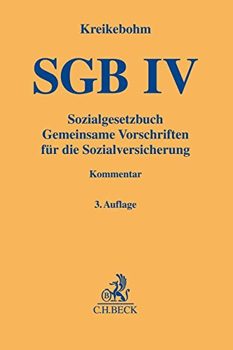 Sozialgesetzbuch: Gemeinsame Vorschriften für die Sozialversicherung - SGB IV