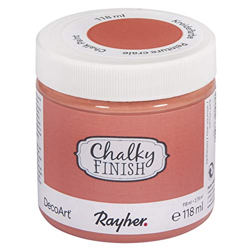 Rayher 38867266 Chalky Finish, lachsrosa, Dose 118ml