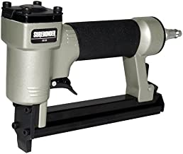 Surebonder Pneumatic 22G Narrow Crown Upholstery Staple Gun with Blow Molded Carrying..