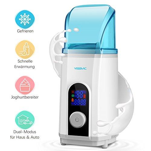 Babykostwärmer,Yissvic Fläschchenwärmer 3 in 1 Babyflaschen Wärmer Multifunktions mit LCD Bildschirm Verpackung MEHRWEG
