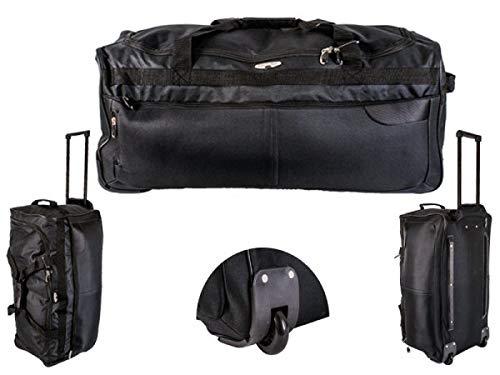 Gimbles New Large Super Lightweight Travel Holiday Wheeled Luggage Bag/Holdall (Black/Grey)