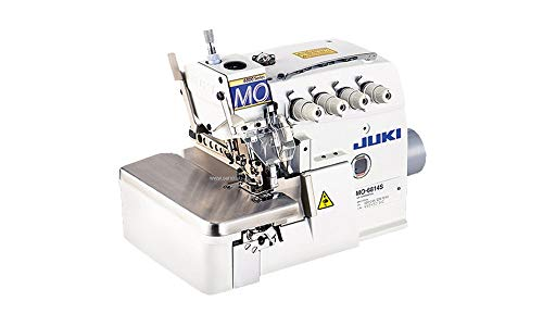 Juki Industrial Máquina de coser de 4 hilos, mesa K.D y motor Servo con luz LED de costura REX