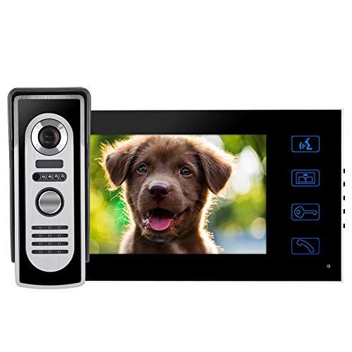 Timbre de videoportero, pantalla LCD a color de 7 pulgadas sin radiación,...
