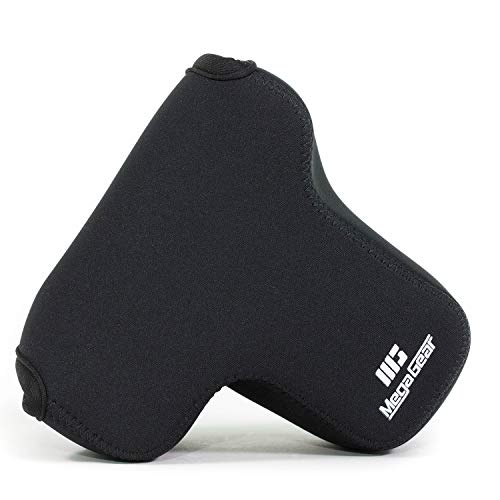 MegaGear MG865 Ultraleichte Kameratasche aus Neopren für Fujifilm X-T3, X-T2 (XF23mm - XF56mm & 18-55mm Lens) - Schwarz