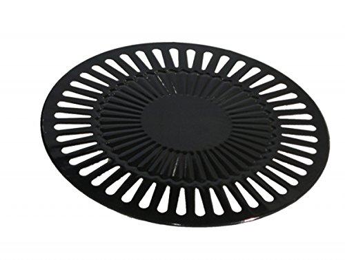 Plaque de gril pour barbecue type barbecue à gaz plancha, 32 cm
