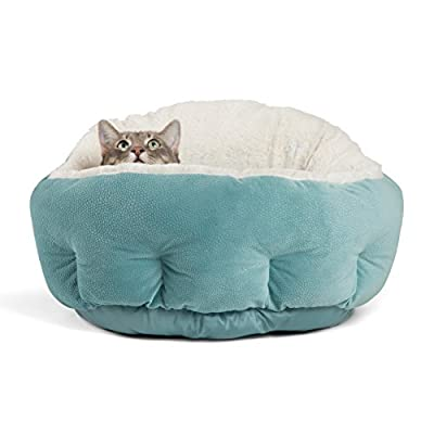 a high sided cat bed called the deep dish cuddler
