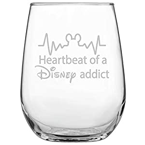 Cute unique design on stemless glass makes a great gift for Mother's Day, Birthday, Sister, Daughter...etc. This stemless wine glass is made from high quality, durable glass and perfect to enjoy red wine, white wine, cocktails or any beverage of your...
