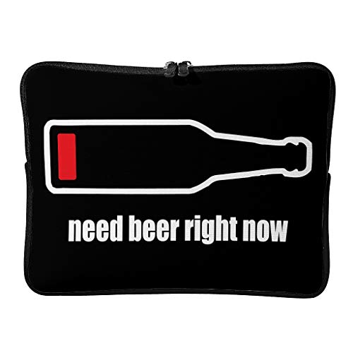 Standard Need Beer Right Now Laptop Bags First-Class Multifunctional - Funny Humor Laptop Cover Suitable for Professional Travel White 15 Zoll