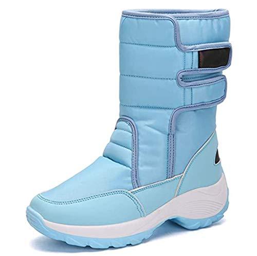 XIALIUXIA Botas Nieve Mujer, Impermeables Calientes Y Antideslizante Zapatos Invierno Forrados Botas,D,36