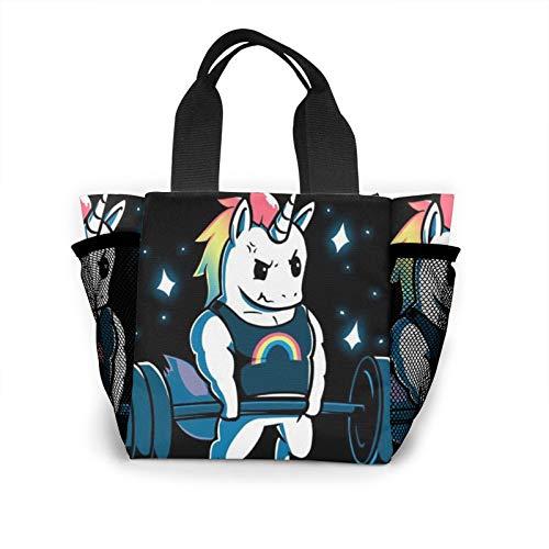 Bolso de mano para mujer de Gym Unicorn, bolsa de la compra, reutilizable, pequeño bolso de mano