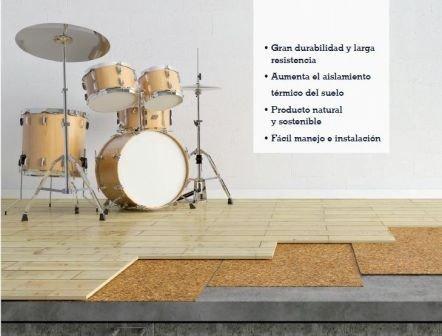 Aislamiento de corcho de 3mm,Acústico y Térmico (5x1 m)