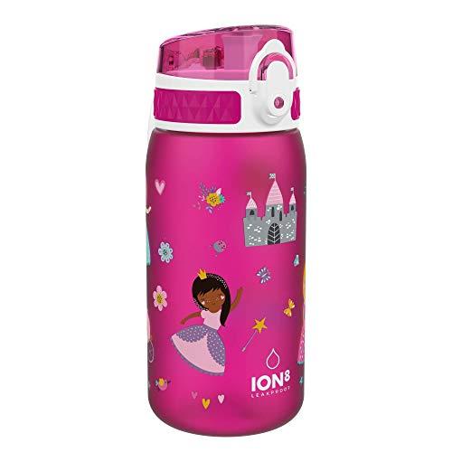 Ion8 Niños Botella Agua, Sin Fugas, Princesas, 400ml