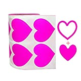 3-Way Pink Love Heart Stickers,Removable Perforated Self Adhesive Hearts Shape Labels - Art & Craft Projects - Sticker-Bombing & Gift Wrappings (1.5',500PCS/Roll)