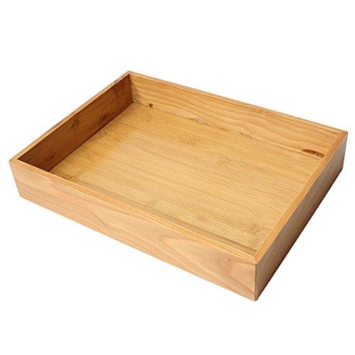 JUNGEN® Bandejas de madera Retro Caja de almacenamiento para el escritorio o el cajón, 33*24.5*5.5CM