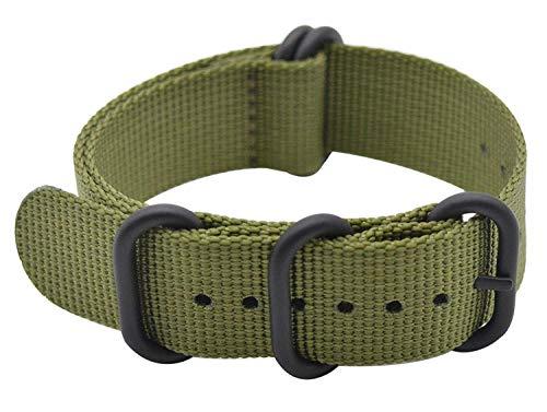 Shieranlee 24mm NATO Strap Repuesto de Correa de Reloj de Nailon para Spartan Sport Wrist HR Baro/Suunto D5/ Suunto 9 Baro/Suunto Traverse and Any Watches with 24mm Lug