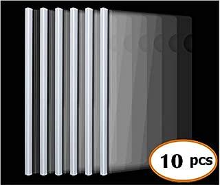 Plastic File Folder Sliding Bar Report Covers,40 sheet capacity, Transparent Resume Presentation File Folders Organizer Binder For A4 Size Paper, 10 Pcs