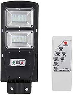 BBZZ Lampe solaire de sécurité étanche 60 W 120 LED avec détecteur de mouvement PIR