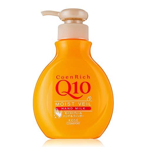 Kose Coen Rich Q10 Moist Veil Hand Milk - 200ml (Green Tea Set)