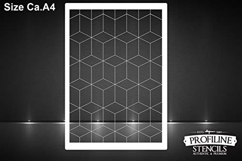 SK-Brush Hexagons Geometrie Effekt Schablone - Stencil FX