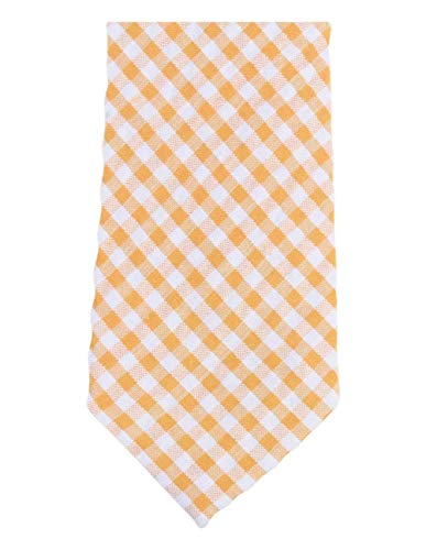 Corbata flaca de algodón con cuadros de guinga de Knightsbridge Neckwear