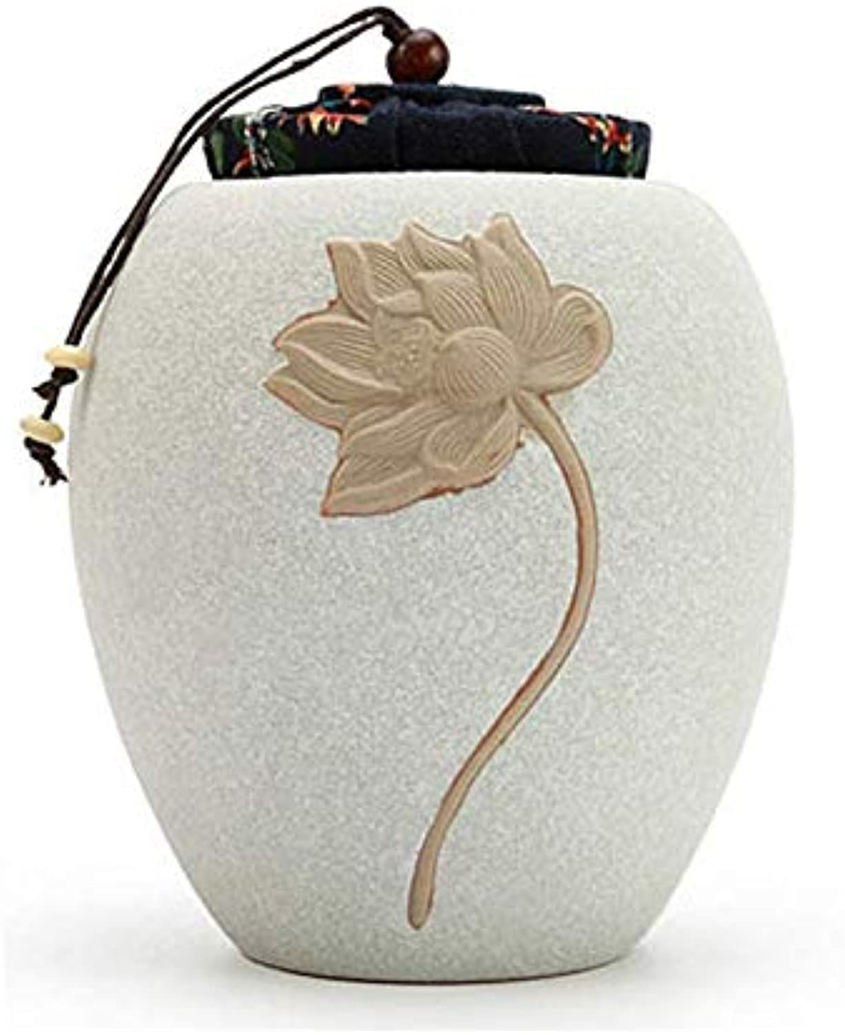 Funeral Urn for Pet Ashes Cremation Funeral Memorial Container Vase Jar,Display Burial Urn at Home or Office (White)